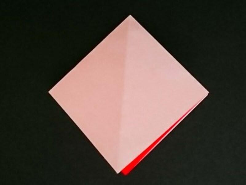 中を開いて四角にする