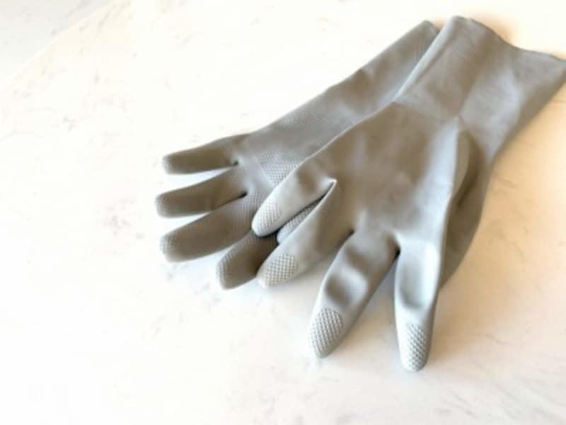 グレーのゴム手袋110円(セリア)