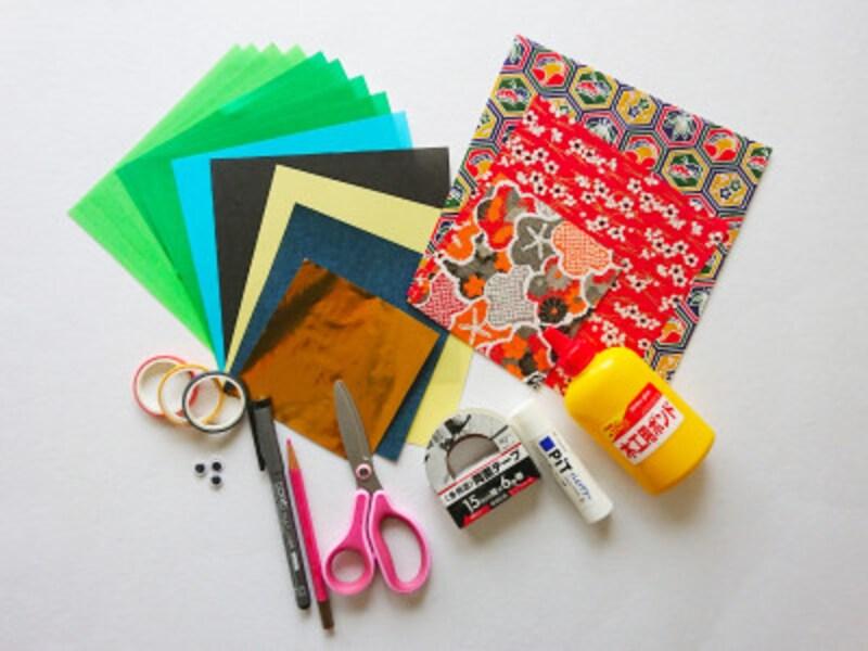 こどもの日折り紙リースの材料