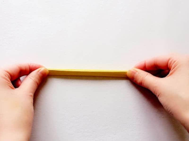 こどもの日折り紙リース 細く折る