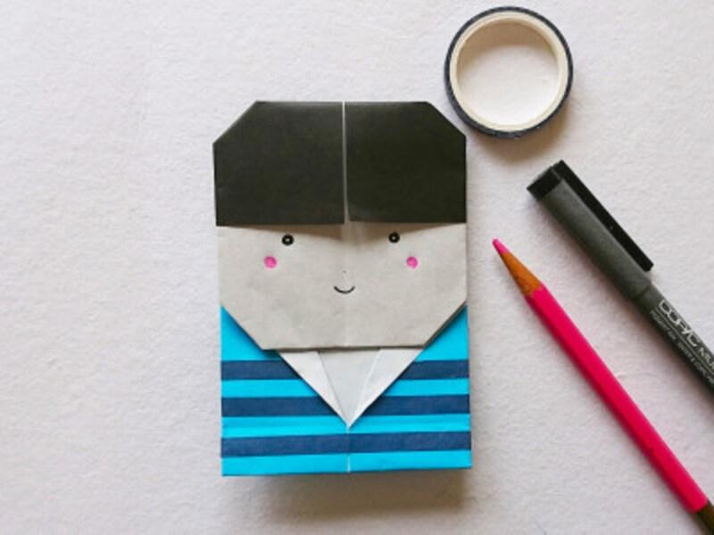 こどもの日折り紙リース かわいい男の子