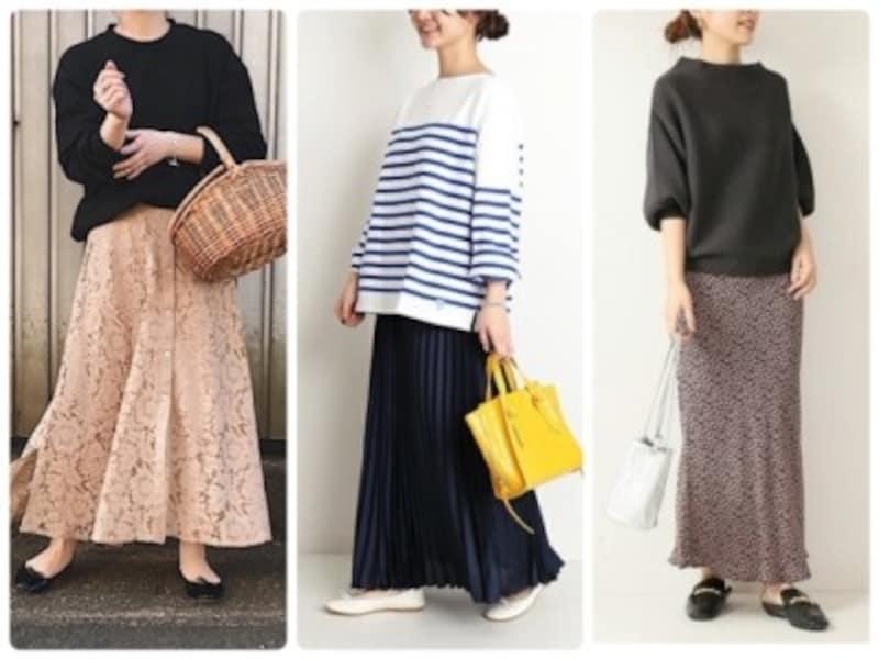 40代の女性が2020年の春夏に履きたいロングスカートはこの3タイプ!