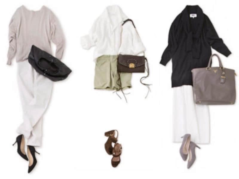 バッグと靴の色を揃えたコーデ実例