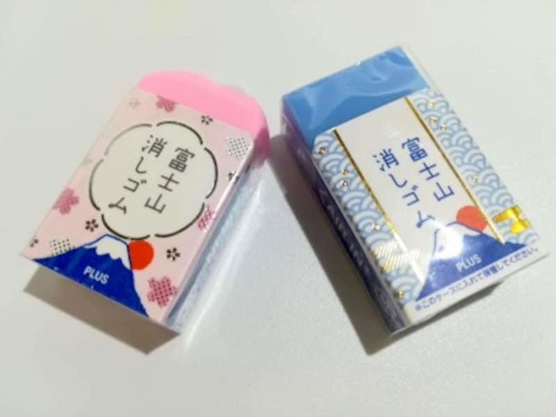 PLUSの「エアイン富士山消しゴム」定番化された青富士と数量限定の桜富士