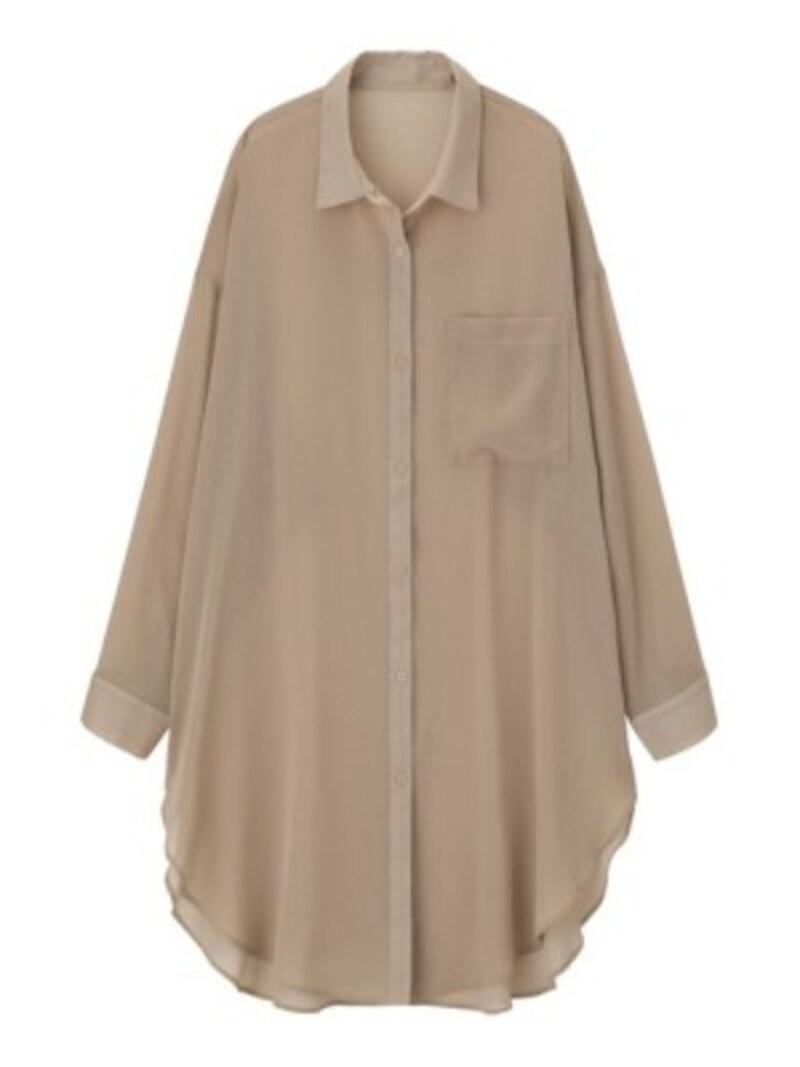 GUシアーロングシャツ1990円(税抜)