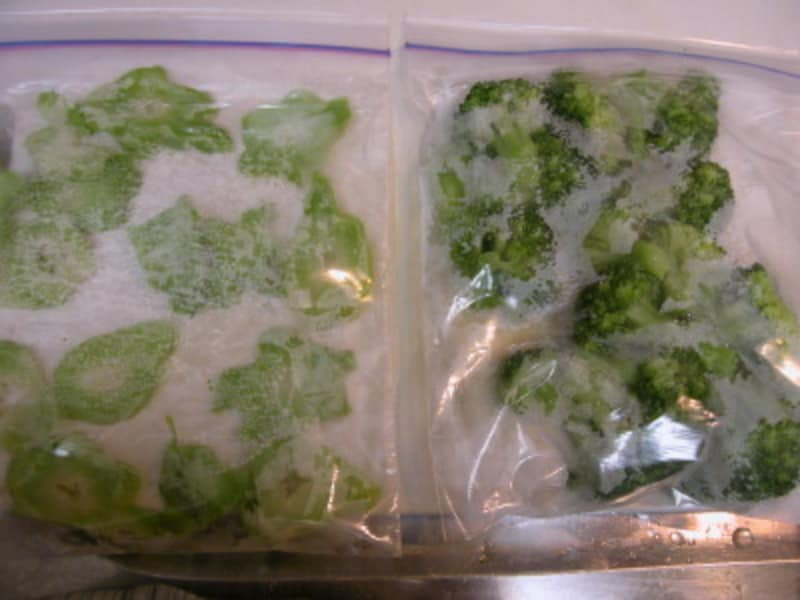 野菜の冷凍のやりかた