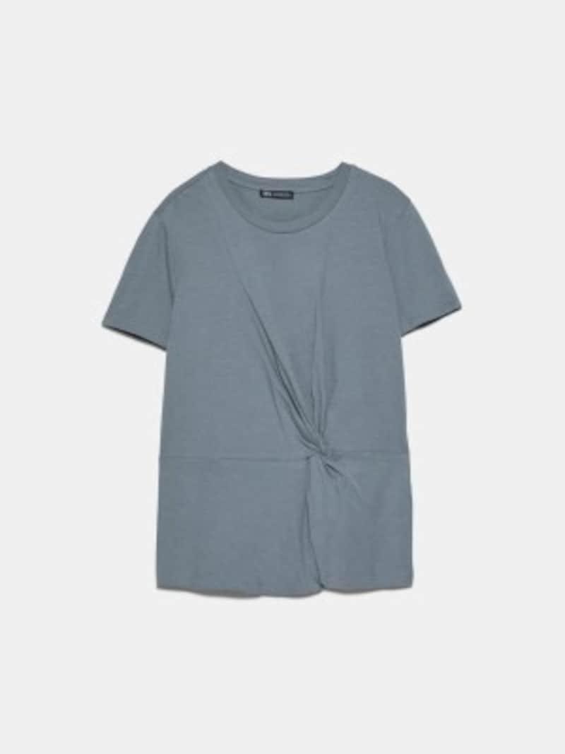 ZARAノット付きTシャツ1590円(税抜)