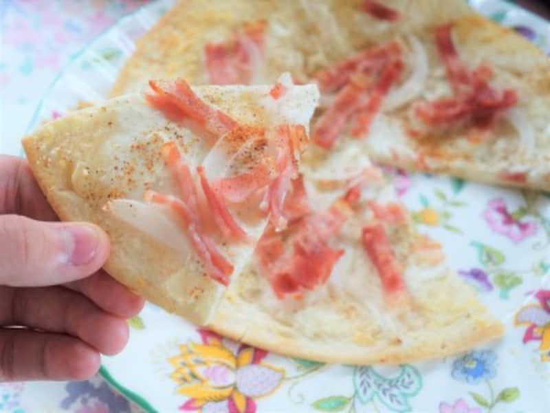 おうちピクニック子ども料理 アルザス旅行の思い出の味を再現した自己流タルトフランベ
