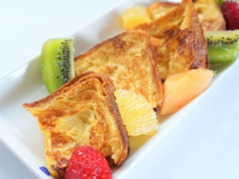 おうちピクニック子ども料理 ブリオッシュを使ったフワフワ贅沢なフレンチトースト