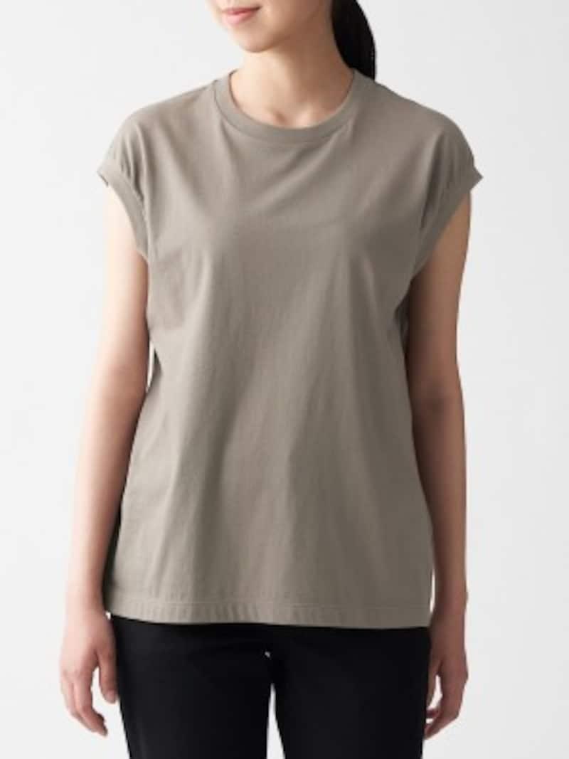 無印良品 インド綿天竺編みスリーブレスTシャツ 990円(税込)
