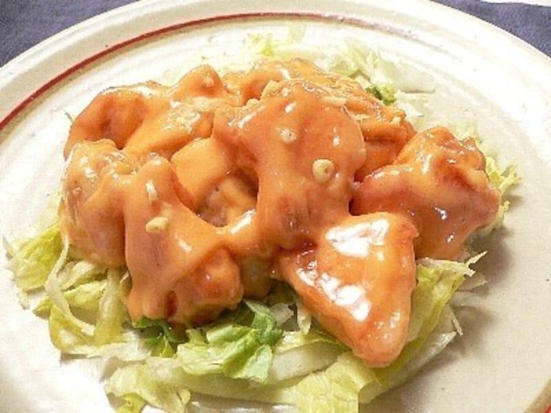 おうち居酒屋レシピエビマヨの鶏肉版!鶏マヨ