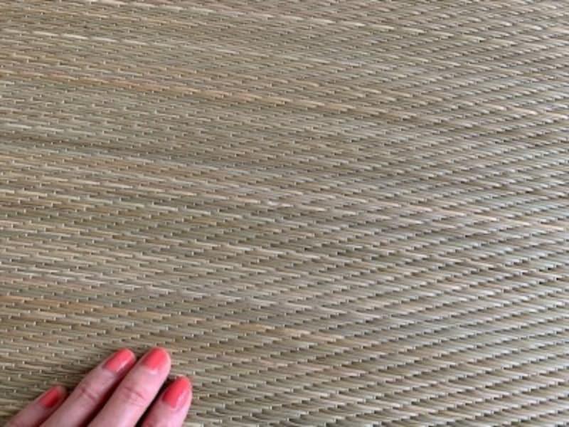 無染色のイ草を使用しているのは素材にこだわる無印良品ならではかも