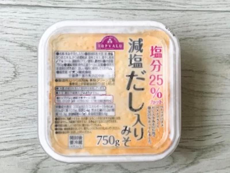 トップバリュの減塩だし入り味噌