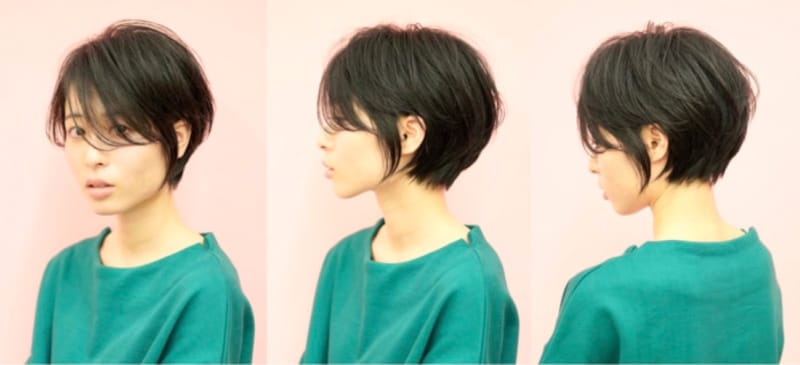 おすすめ1:前髪長めの耳かけショート(画像提供:bangs[バングス])