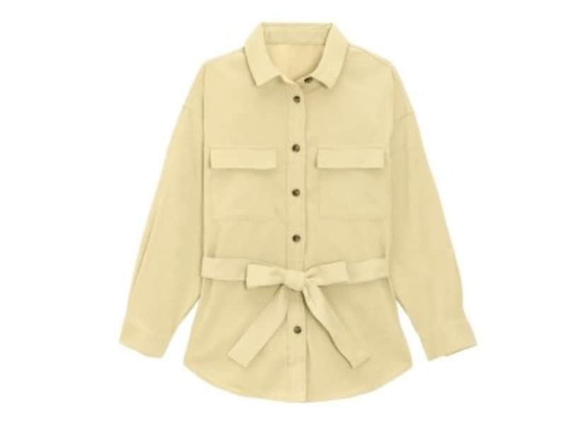 GUコーデュロイベルテッドオーバーサイズシャツ1990円(税抜)