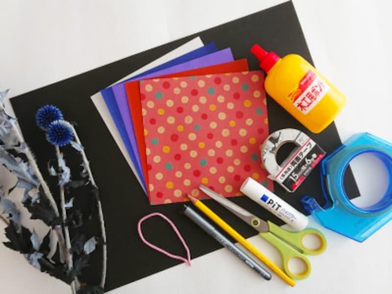 お月見 折り紙 リース うさぎ すすき 団子 三宝 三方 作り方 手作り 折り方折り紙お月見リースの材料