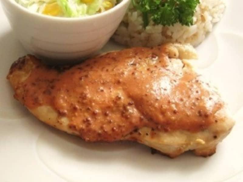 鶏胸肉のマスタード焼き