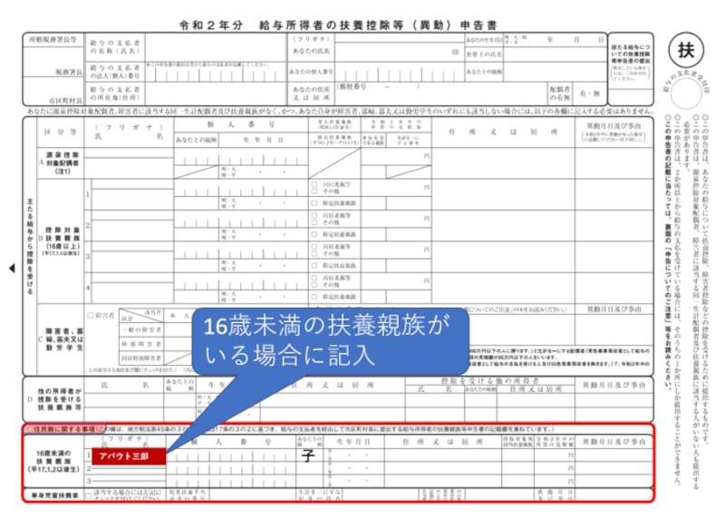 住民税,非課税限度額,16歳未満住民税,単身扶養者