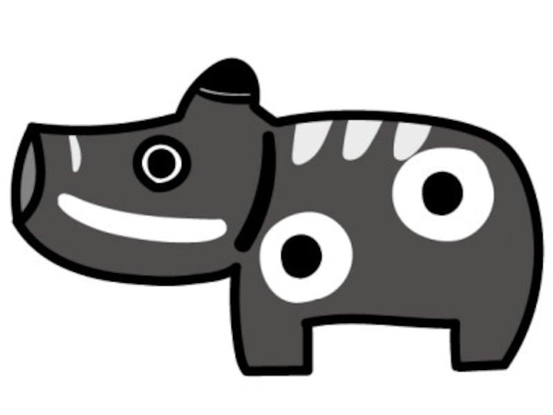 うし 牛 ウシ 丑 イラスト 年賀状 2021干支 無料 フリー 赤べこ かわいい白黒