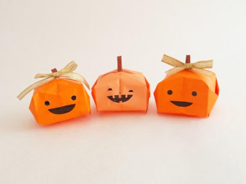 折り紙で作る立体おばけかぼちゃ