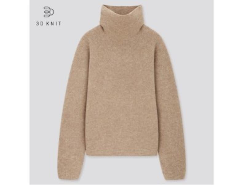 ユニクロ 3Dラムブレンドタートルネックセーター 3990円(税抜)