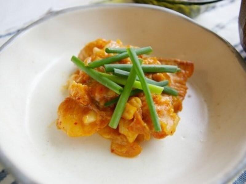 鮭キムチーズ焼き