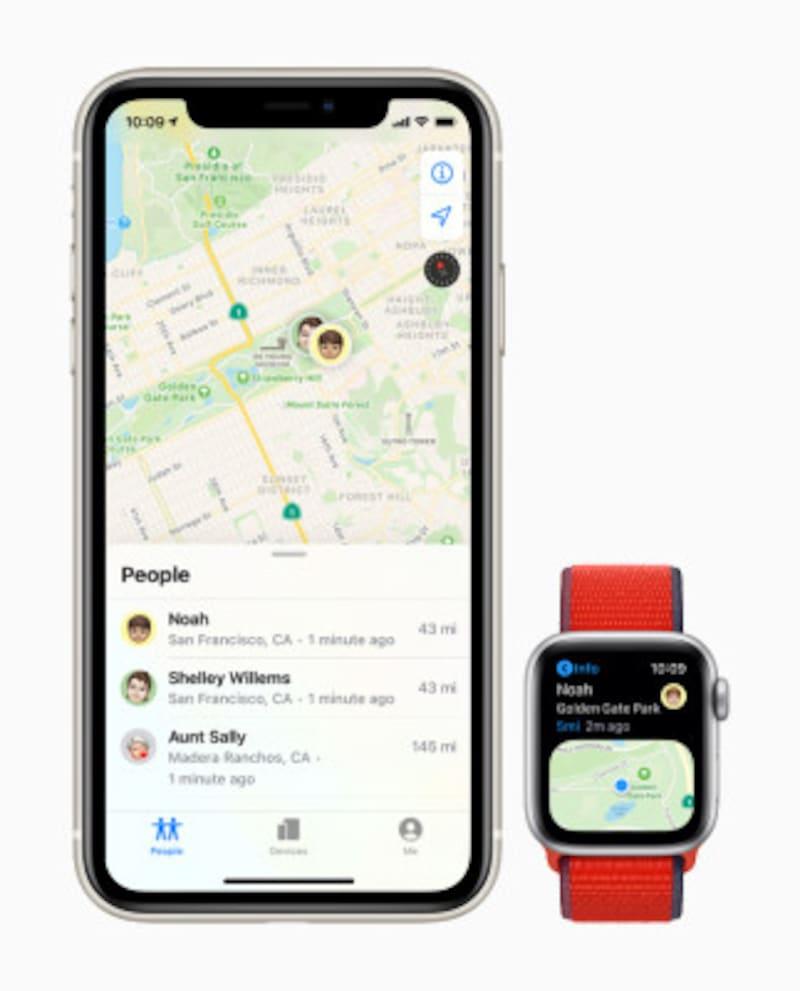 GPS機能を使ってAppleWatchを持った子どもの位置を確認できます