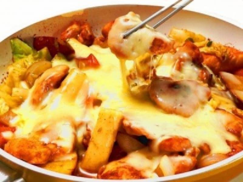 チーズ料理のレシピチーズタッカルビ