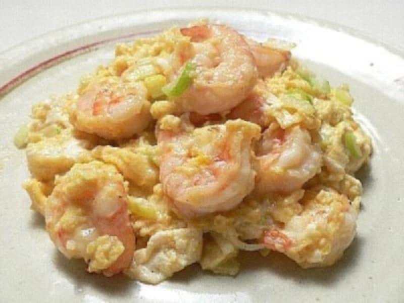 卵炒めのレシピエビと卵のふわふわ炒め