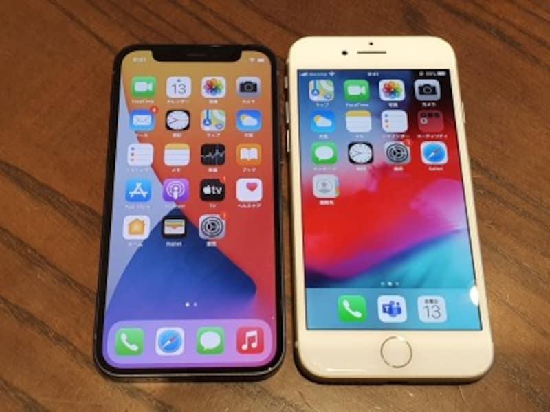 iPhone12miniとiPhone8