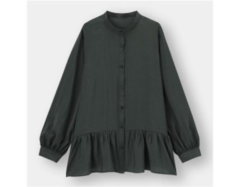 GUギャザーフレアロングシャツ1990円(税抜)