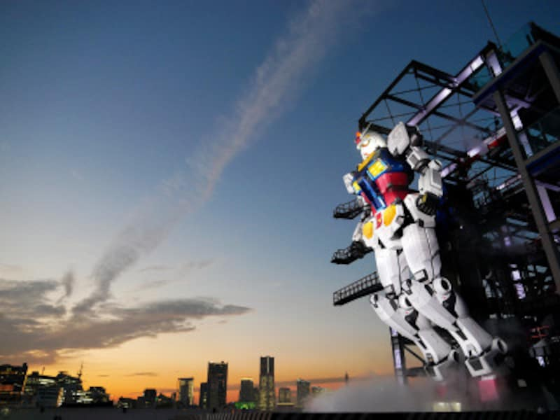 「こいつ……、動くぞ!」ついに動く実物大ガンダムが横浜で公開スタート(2020年11月30日撮影)