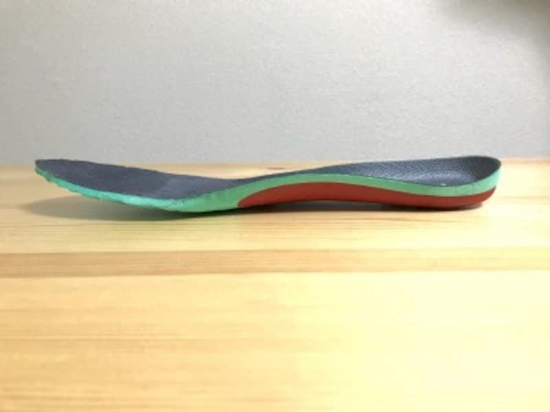 インソール自体は薄いためどんな靴にも挿入しやすい