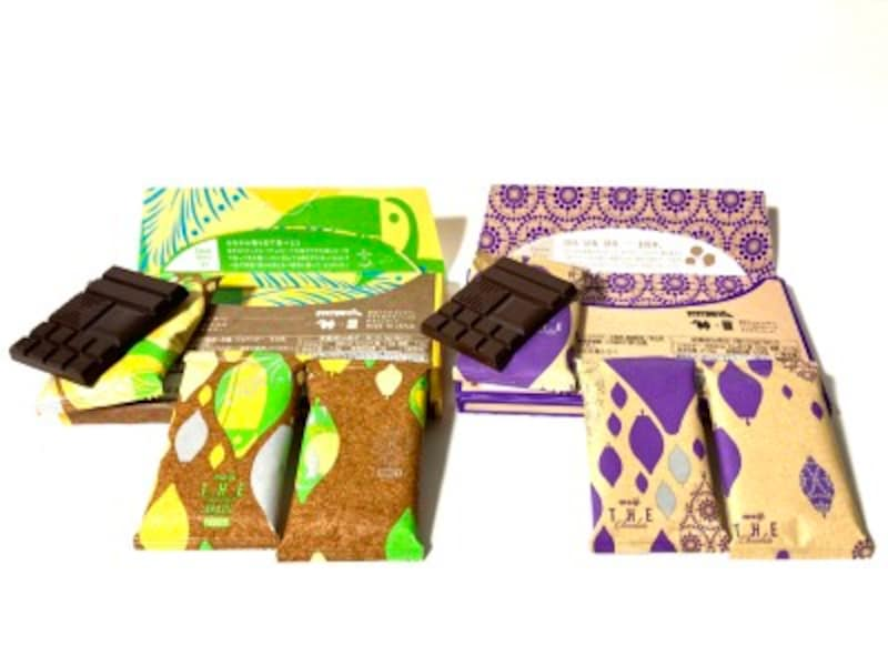 ザ・チョコレート。新パッケージと旧パッケージ。開封