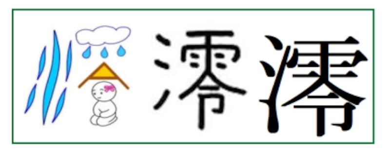 平成以降に名前に使える漢字「澪」