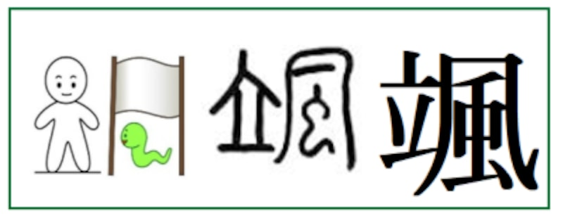 平成以降に名前に使える漢字「颯」