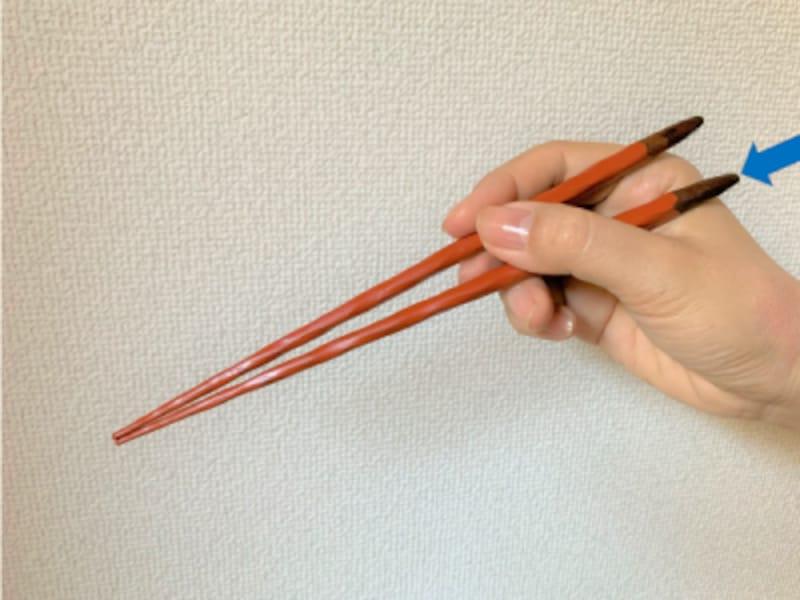 正しい箸の持ち方を簡単にマスターする方法4