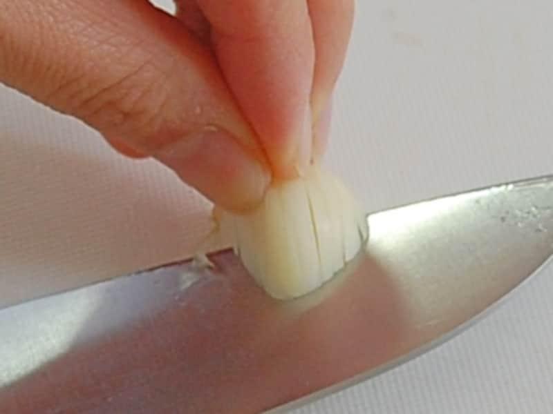 にんにくの切り方/みじん切り