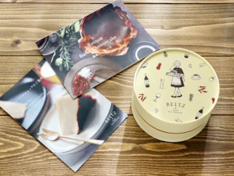 オンラインでお取り寄せしたBELTZのチーズケーキ。選べるパッケージがオシャレ!