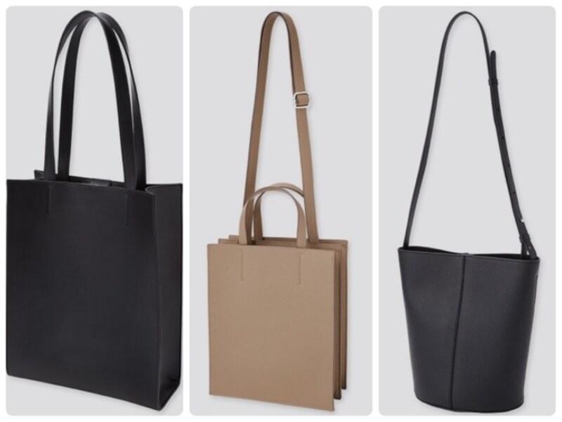 お仕事シーンや行事ごとにも対応できそうなきちんと感が魅力のユニクロ新作バッグ