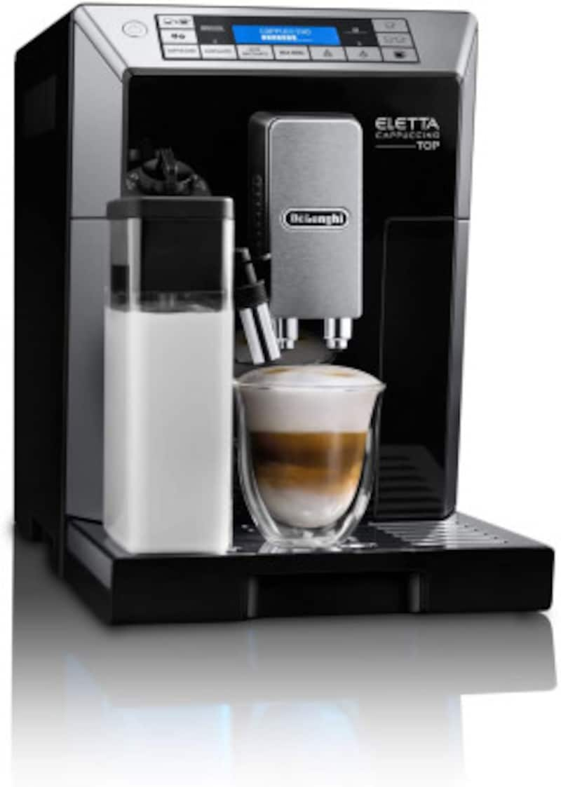 デロンギコンパクト全自動コーヒーメーカー[ECAM45760B]エレッタカプチーノミルク泡立て自動ブラック(画像はAmazon製品ページより)