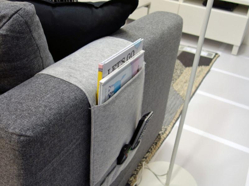 リモコンの定位置と片付けに使うイケア商品