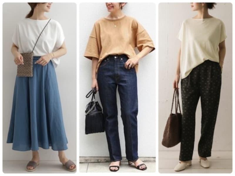 カジュアル感が難しい40代女性のTシャツコーデ、意識したいポイントは?