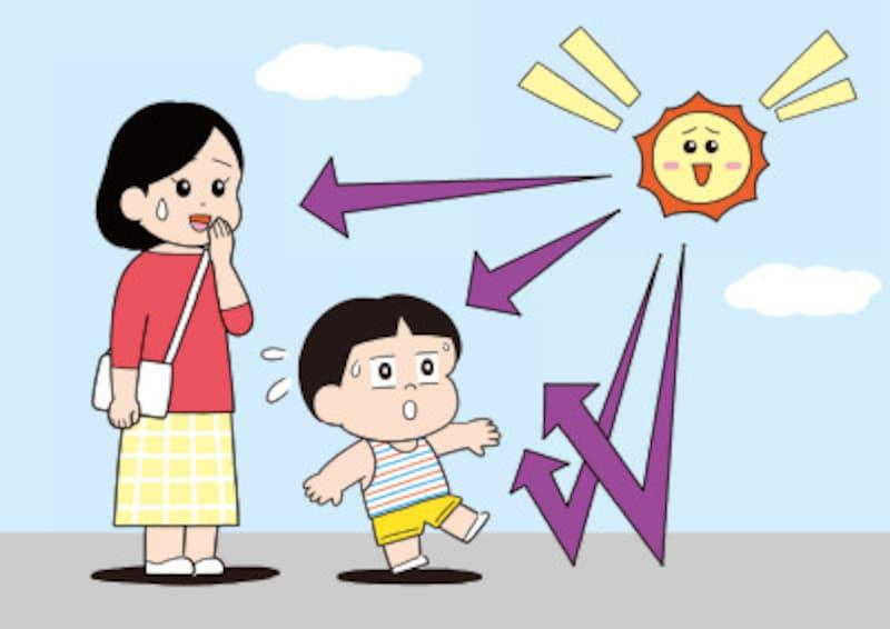 大人より子どもの方が紫外線を多く浴びやすい