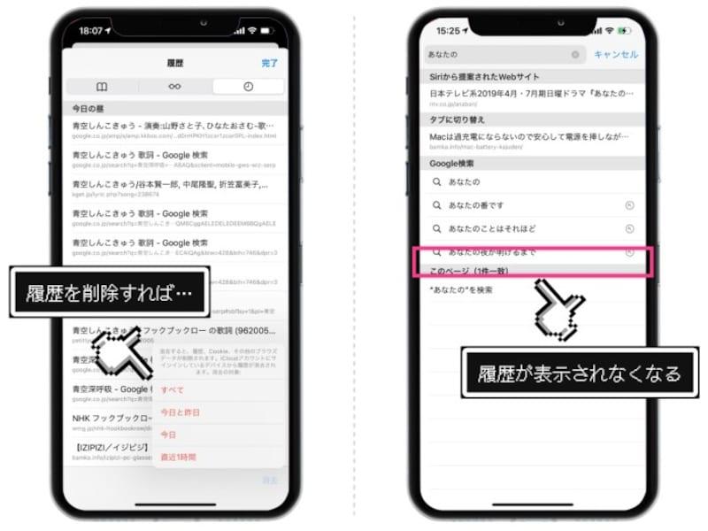 iPhoneのSafariに残るあらゆる履歴を削除する方法
