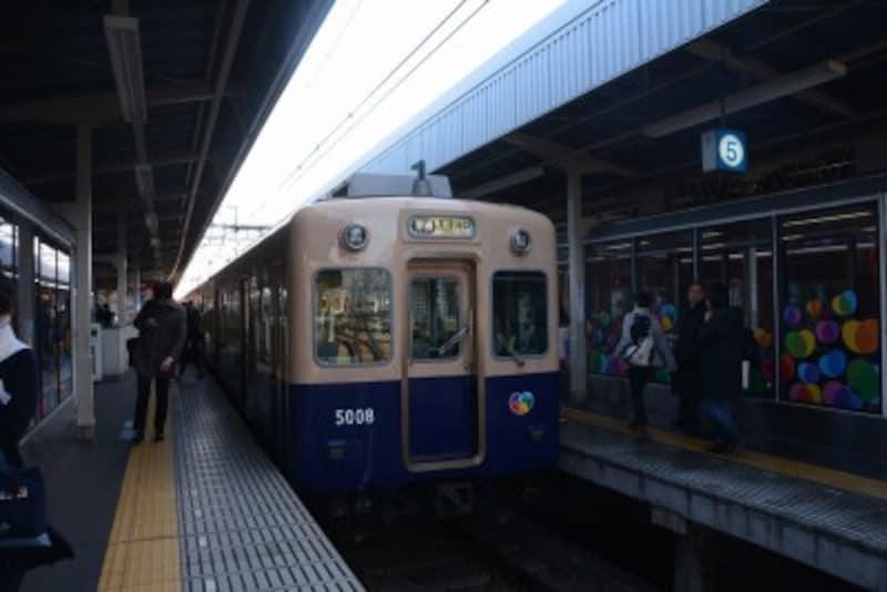 阪神電車の尼崎駅
