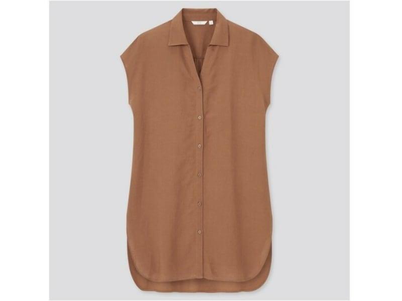 ユニクロ リネンブレンドロングシャツ 2990円(税込)