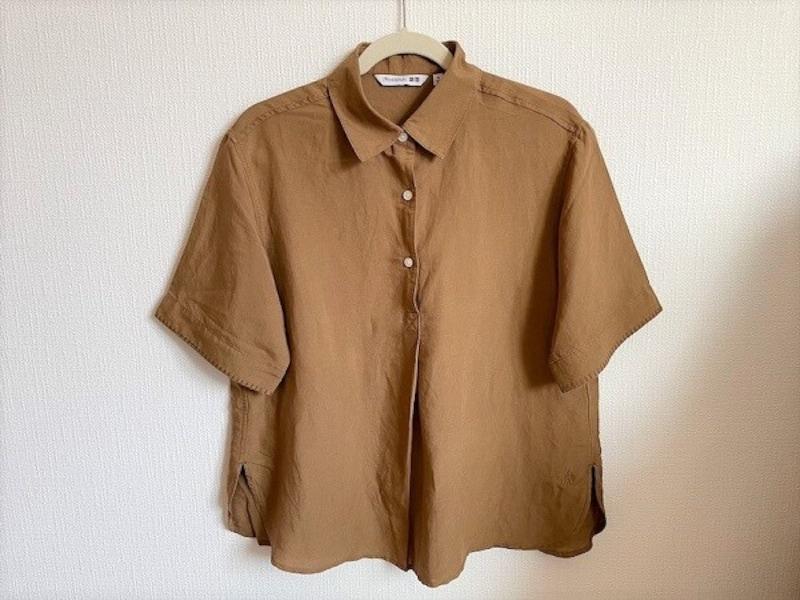 ユニクロ リネンブレンドプルオーバーシャツ 2990円(税込)