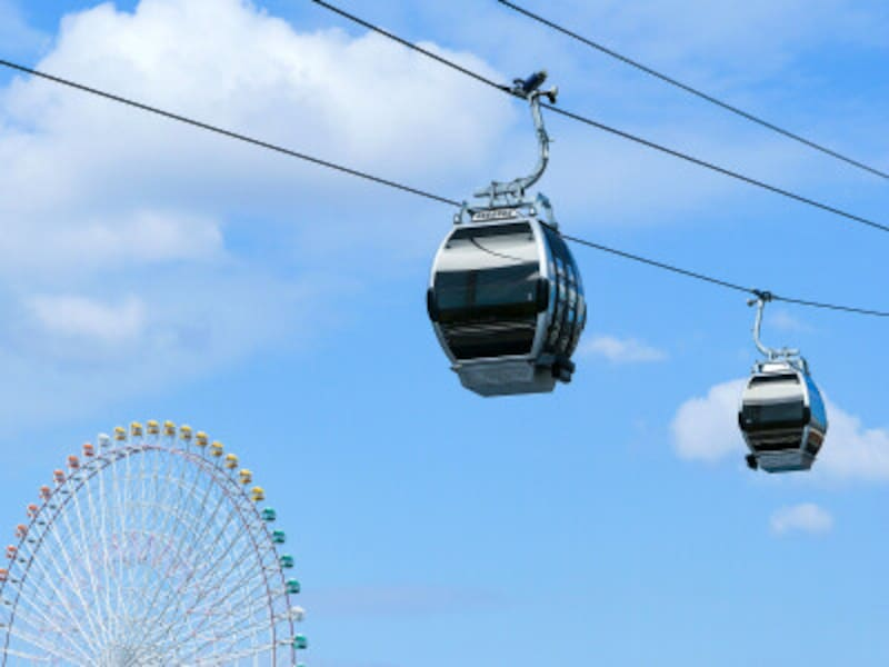2021年4月22日に開業した都市型循環式ロープウェイ「YOKOHAMAAIRCABIN(ヨコハマ・エア・キャビン)」(2021年4月19日撮影)