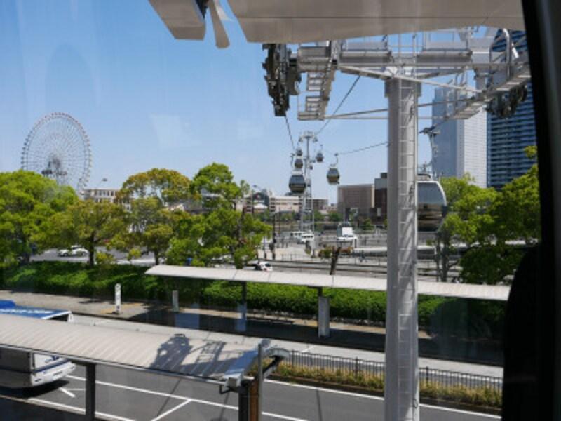 桜木町駅からキャビンに搭乗(2021年4月19日撮影)